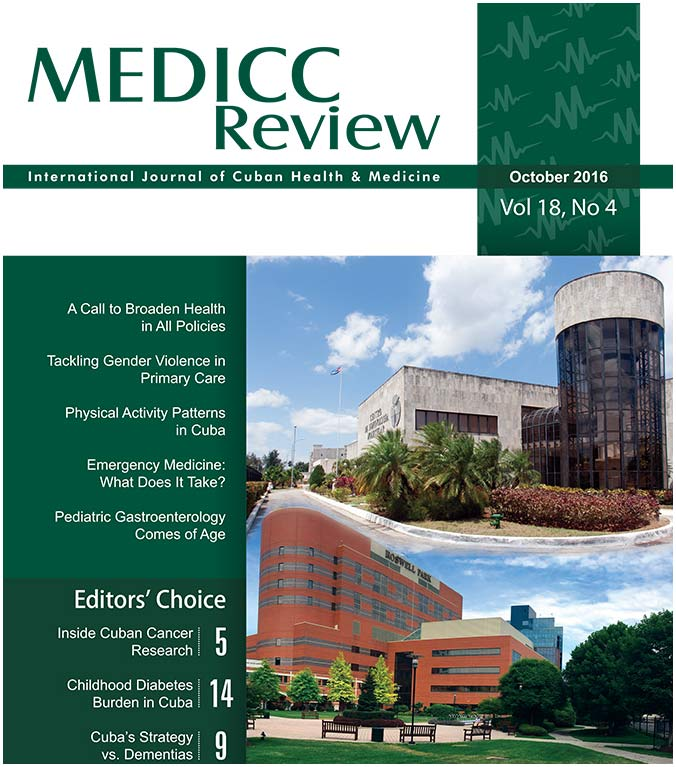 MEDICC Review October 2016 Cover